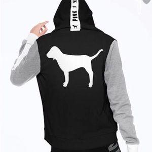 PINK Victoria's Secret Full Zip Dog Hoodie